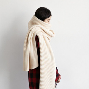 Female TurtleNeck Thickening Warm Shawl Stretched Long Scarf For Women