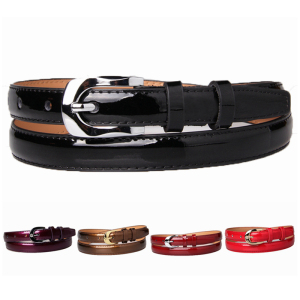 Women waist belt real leather high quality stylish thin glod buckle strap skinny belts for dresses