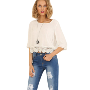 Casual Summer New Arrival Women O-neck Fashion Loose Tunic T Shirt Tops