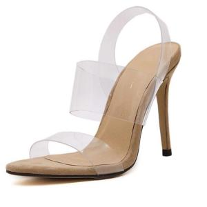 Fashion Women Shoes Europe Sexy The Transparency High-heeled Sandals Big Stars Favorite Stiletto / Party Wedding Shoes