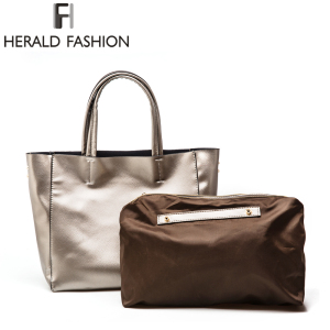 Herald Fashion Luxury High Quality PU Leather Designer Large Capacity Women Messenger Bags Sac A Main Femme Shoulder Bags