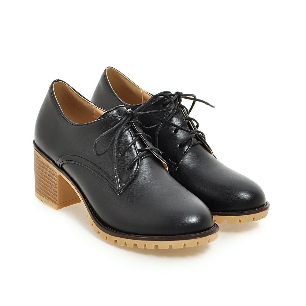 Oxford Shoes for Women Fashion Lace Up