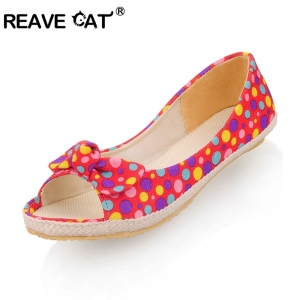 New shoes Flower for women Flats Bowtie Wedges Sandals Open toe Fashion Sweet Red Green Comfortably