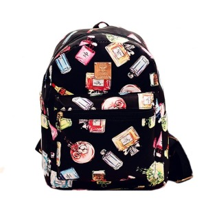 Women Backpack 2017 Fashion Causal Floral Printing Backpacks PU Leather Backpack For Teenagers Girls Mochilas