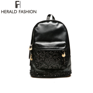 Women Backpack For Teens Girls Big Crown Embroidered Sequins Backpack Wholesale Women Leather Backpack School Bags