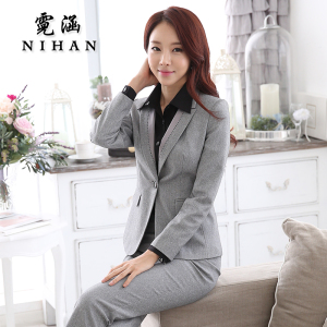 2015 new winter wear women's clothing OL temperament interview chaps fitted ladies dress suit
