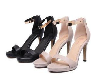 the new summer fish mouth sandals, women heel heel shoes, Europe and America fashion leather sandals, spot wholesale