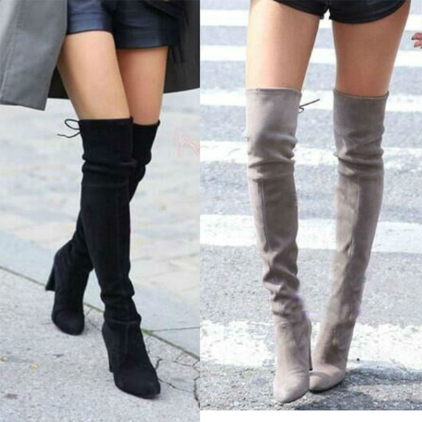 8 colors-women's boots stretch tall