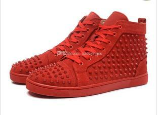 Cheap red bottom sneakers for men with