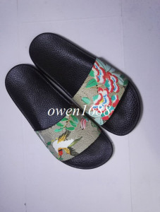 hotsale  mens fashion print leather slide sandals summer outdoor beach causal slipper for mens size euro40-45
