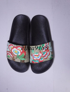 new arrival 2017 mens and womens fashion causal flower print slide sandals many colors size euro34-45