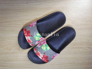 new arrival 2017 mens and womens fashion causal sandals blooms tian flower print slide sandals free shipping