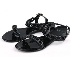 New  Shoes Woman Sandals Lovely Flower Jelly Shoes Solid Casual Slides Summer Style Sandalias Fashion Flats Slippers