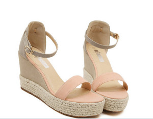 Size 34-38 Pink Summer Women Platform Wedges Sandals Female Shoes 2016 Mixed Colors Shoes High Heel Women Ankle Strap