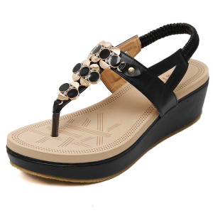 Summer Gladiator Ladies Sandals Flat Fashion Women Open Toe Wedge Slides Shoes Casual Occasions Comfortable The Female Sandals