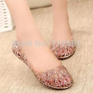 Supernova Sales New  Fashion summer breathable women shoes jelly sandals nest mesh flats for women#