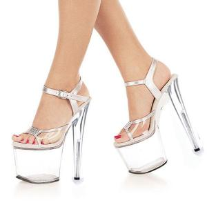 Ultrafine crystal sandals platform heels 8 inches clear shoes sexy stripper sexy temptation to 20 centimeters