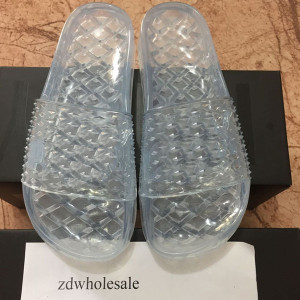 With Box Fenty By Rihanna Collection Summer 2017 Fenty Jelly Slides Womens Slide Sandals Black White Pink Shoes Wholesale Drop Shipping