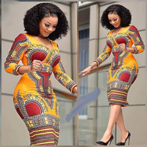 African Dresses for Women Dashiki Print  News Tribal Ethnic Fashion V-neck Ladies Clothes Casual Sexy Dress Robe Party
