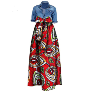 African Print Dresses for Women  News Wax Fabric Skirts Traditioanal Dashiki Bazin Plus Size Party Fashion African Clothes